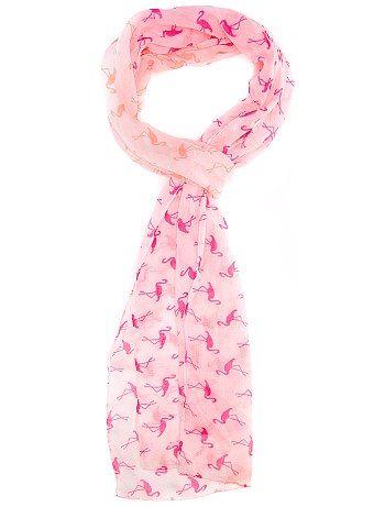Foulard voile rayé flamant rose Femme 2.99 kiabi baf7fe28116