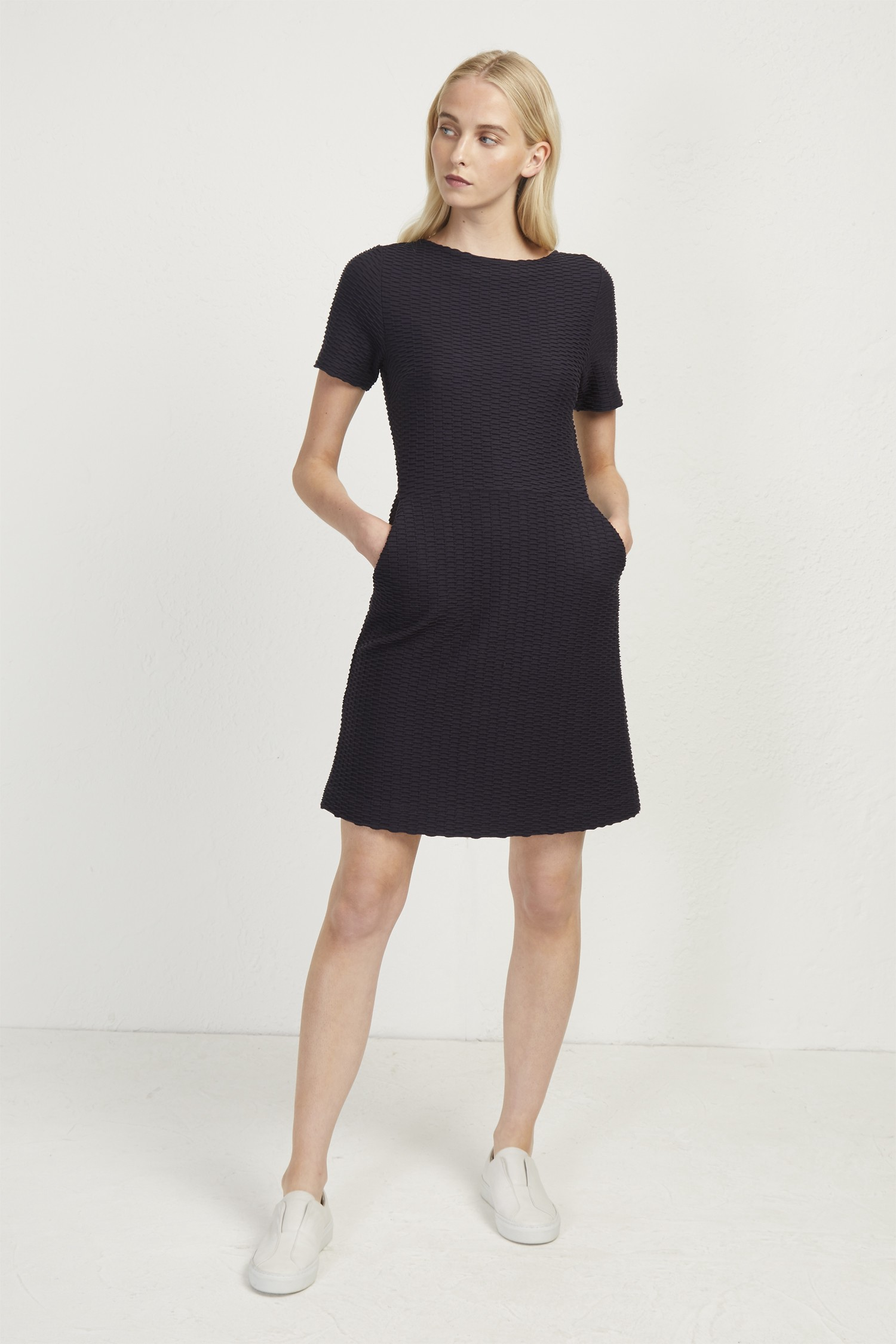 47708203f3 French Connection Pixie Texture Dress - Charcoal Mel 10