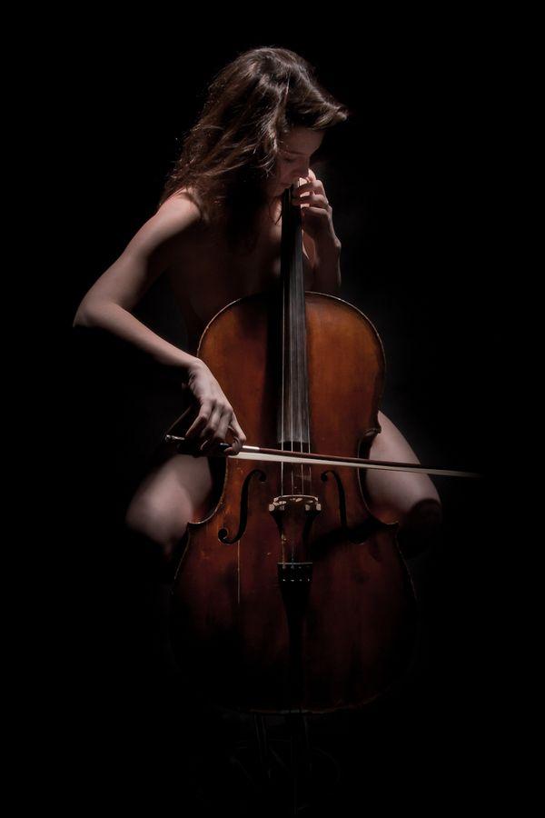 """cello intimacy: """"Girl playing cello"""" by Milan Liška 2012-09-03 (@ 500px 13055245)"""