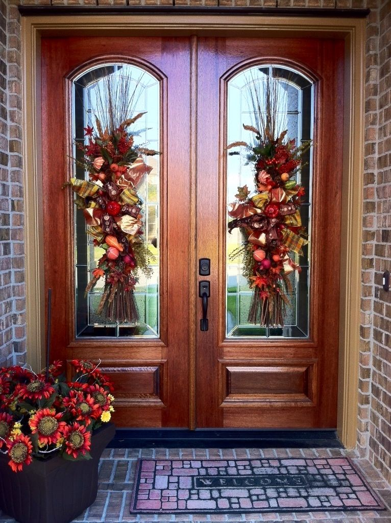 52 Beautiful Front Door Decorations And Designs Ideas: Beautiful Front Doors, Door Wreaths Fall, Door Decorations