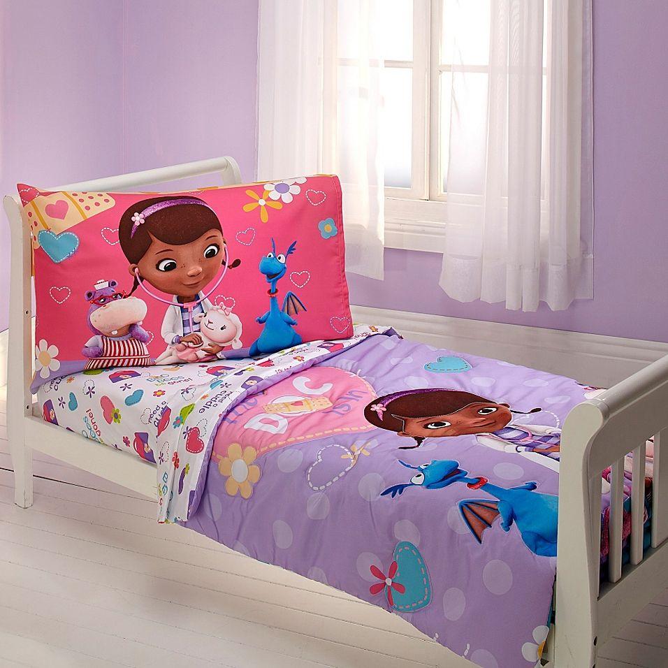 Disney Doc Mcstuffins 4 Piece Toddler Bed Set Multi Toddler Bed