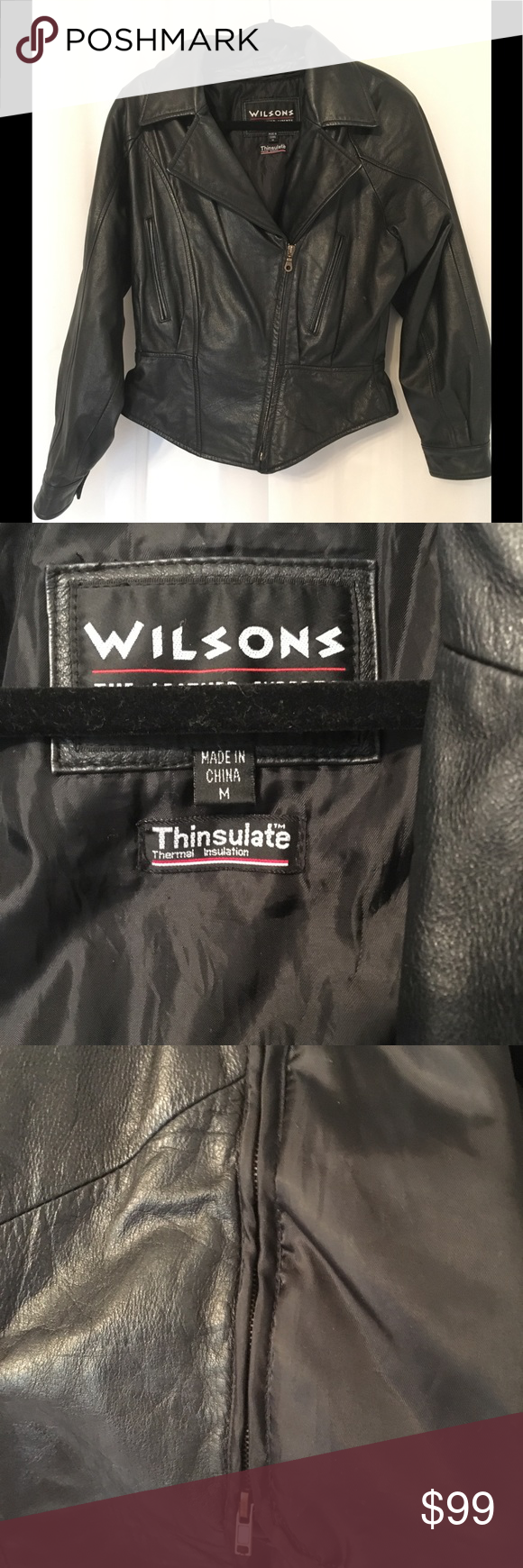 Wilson's Motorcycle Thinsulate Leather Jacket Leather