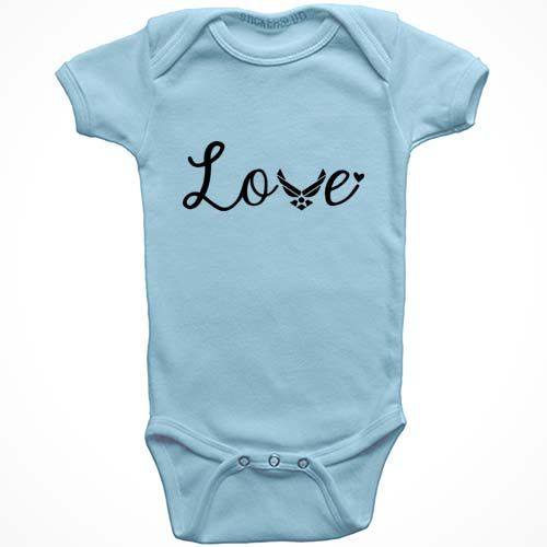 864e0066e Air Force Love Baby Onesie. 100% cotton baby onesie available in ...