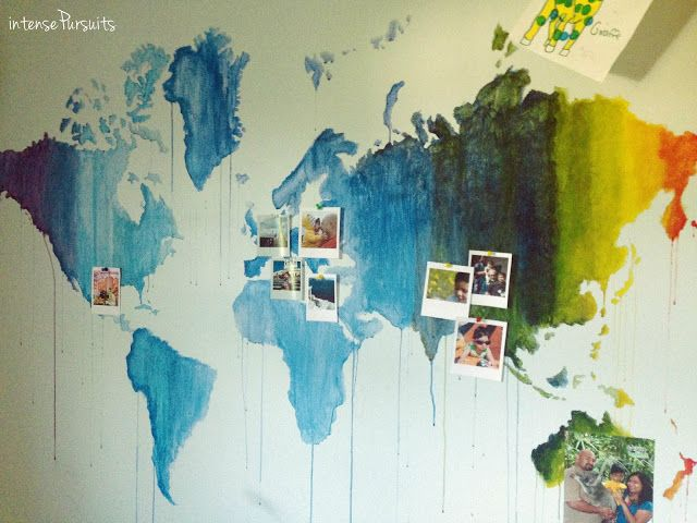 Painted world map on wall travel marker intensepursuits dwell a painted world map on wall travel marker intensepursuits dwell a warm bangladeshi home surrounded by green gumiabroncs Image collections