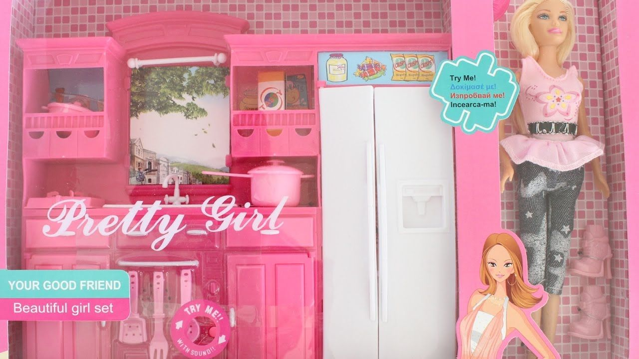 Barbie Dream Pink Kitchen Set Tiatia Barbie Dream Pink Kitchen Barbie