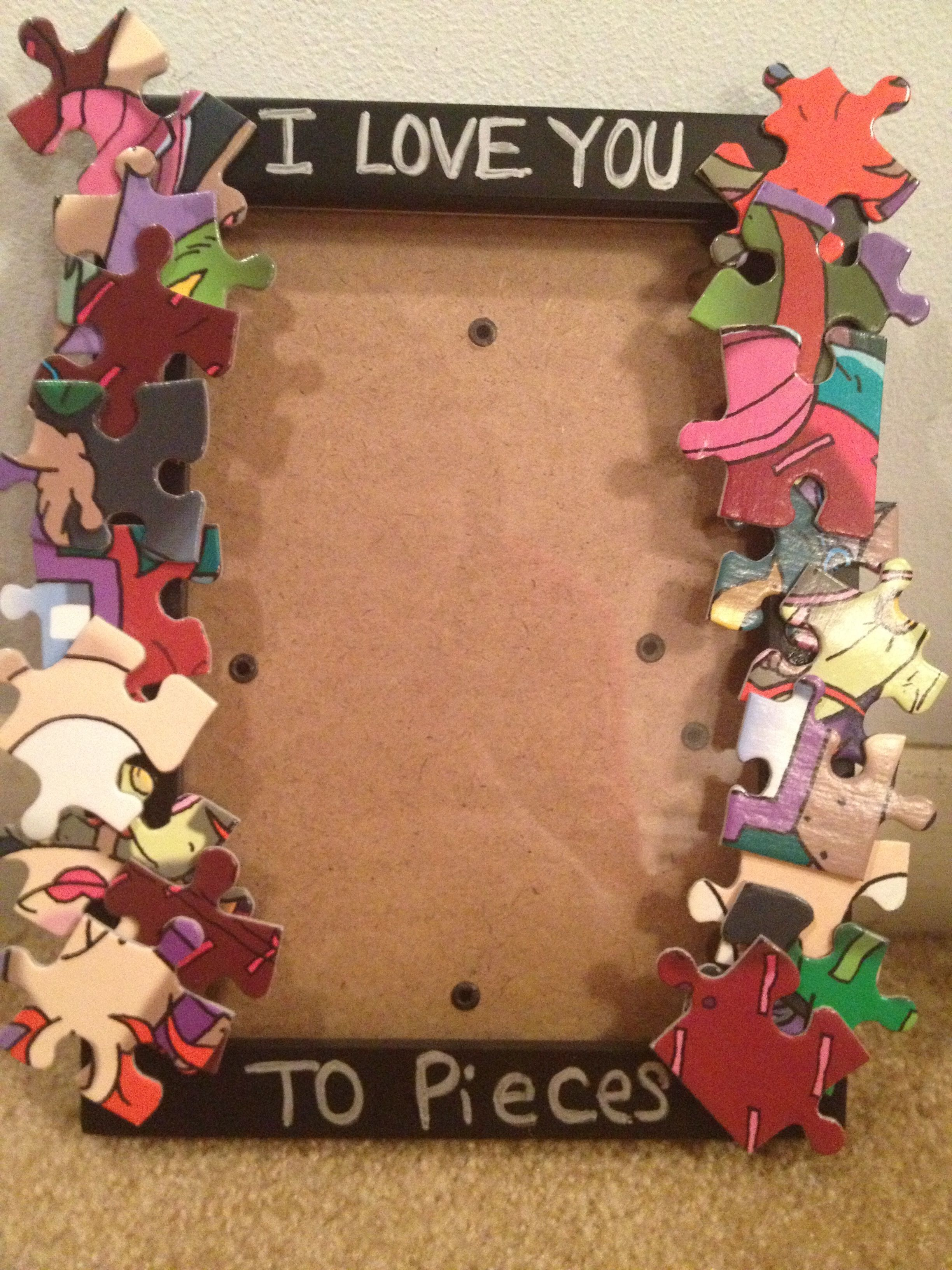 I Love You To Pieces Mothers Day Picture Frame Classroom Art