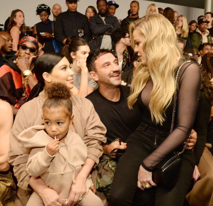 Kim Kardashian And North West Attend Kanye West S Yeezy Nyfw Show Kim Kardashian And North Kanye West Show Kardashian