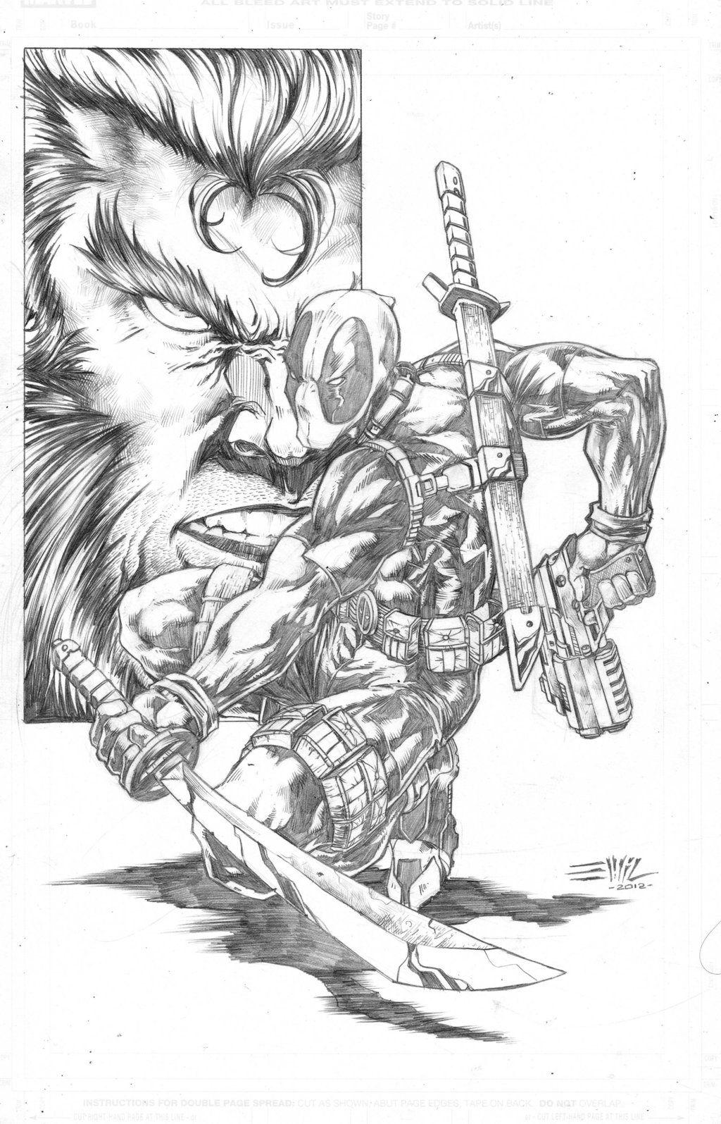 Fantástico Chibi Deadpool Para Colorear Patrón - Ideas Para Colorear ...