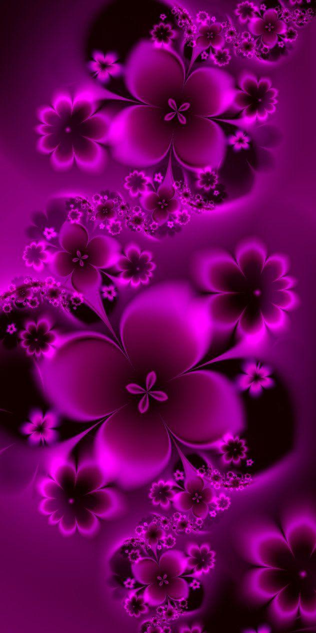 Garden of Pink Flowers by EsmeraldEyes on DeviantArt
