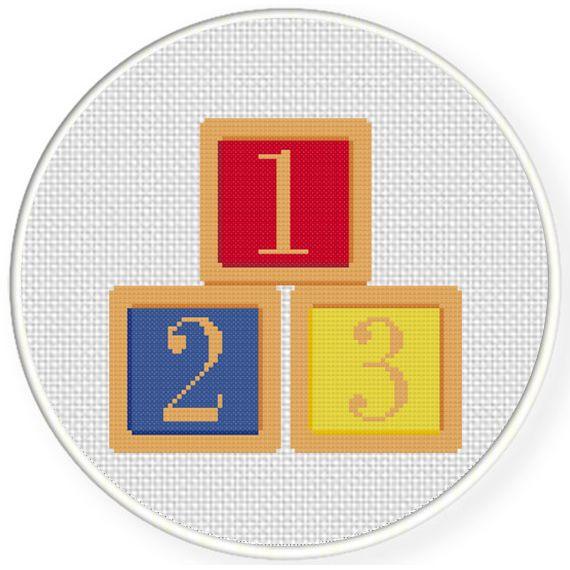 Charts Club Members Only: 1 2 3 Blocks Cross Stitch Pattern
