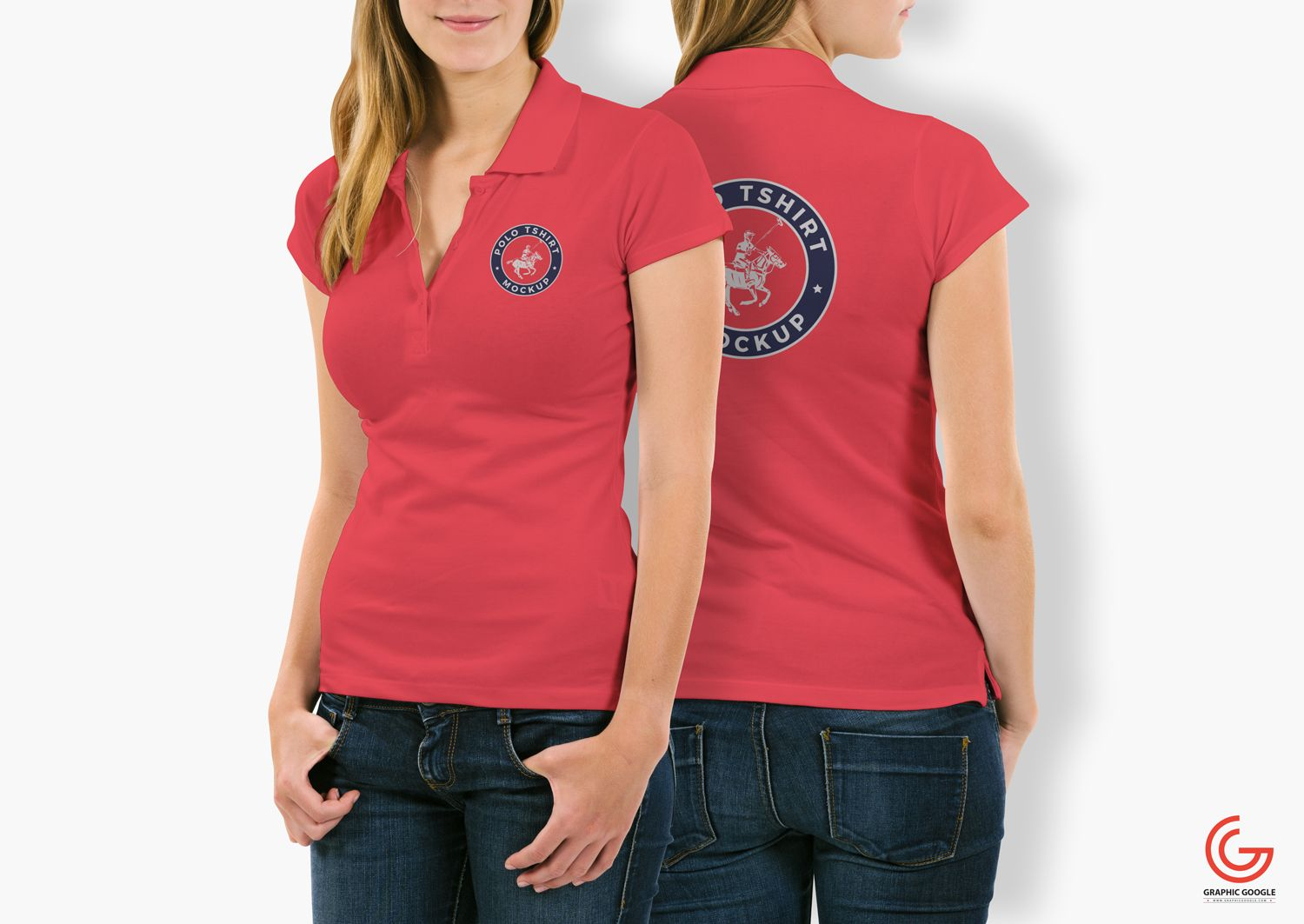 Download Free Woman With Polo T Shirt Mockup Psd 3 Polo Shirt Women Polo T Shirts Shirt Mockup