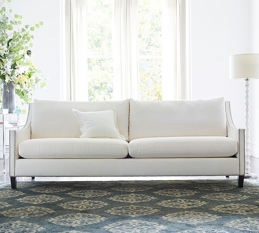 Pasadena Upholstered Grand Sofa 96 Quot Polyester Wrapped