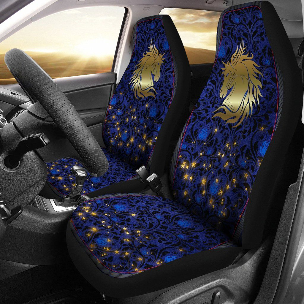 Wild Horse Blue Rose Damask Car Seat Covers Wild Horse Blue Rose Damask Car Seat Covers Carseat Cover Car Seats Seat Covers