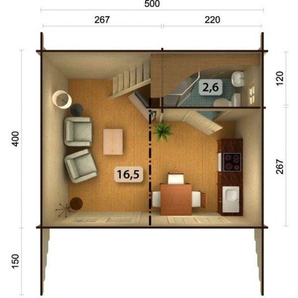 mini maison sans permis Cabanon Pinterest Tiny houses - extension maison bois 20m2