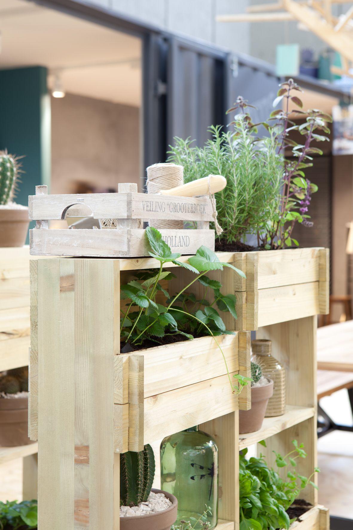 barefootstyling.com| Met een kast in de kamer kun je ook plantjes, cactussen of kruiden verbouwen. #woonbeurs #karwei #inspiratie