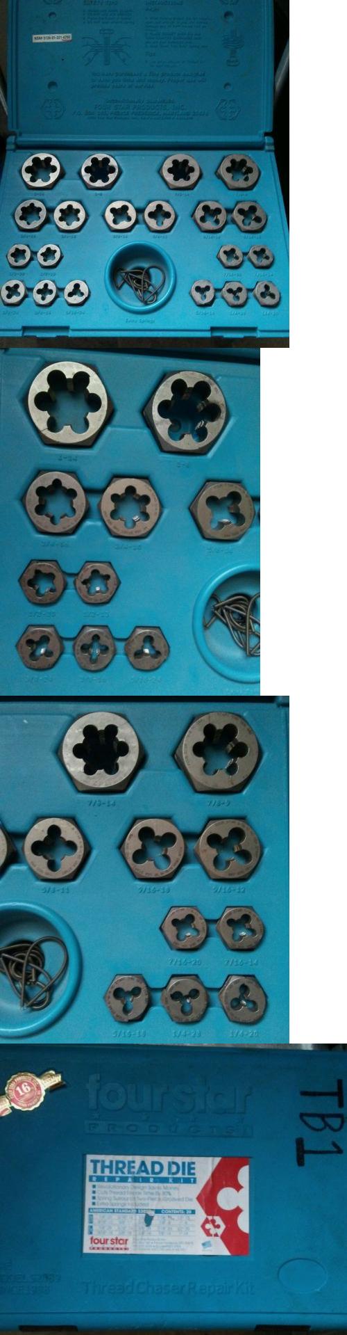 Taps and dies fourstar thread repair die kit sae ue buy it