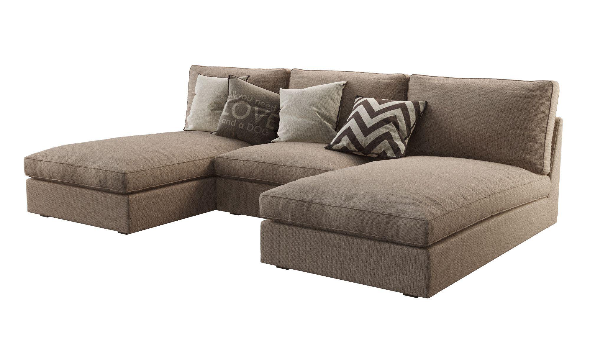 3d Model Ikea Kivik 2 Chaise Ikea Kivik Living Room Decor
