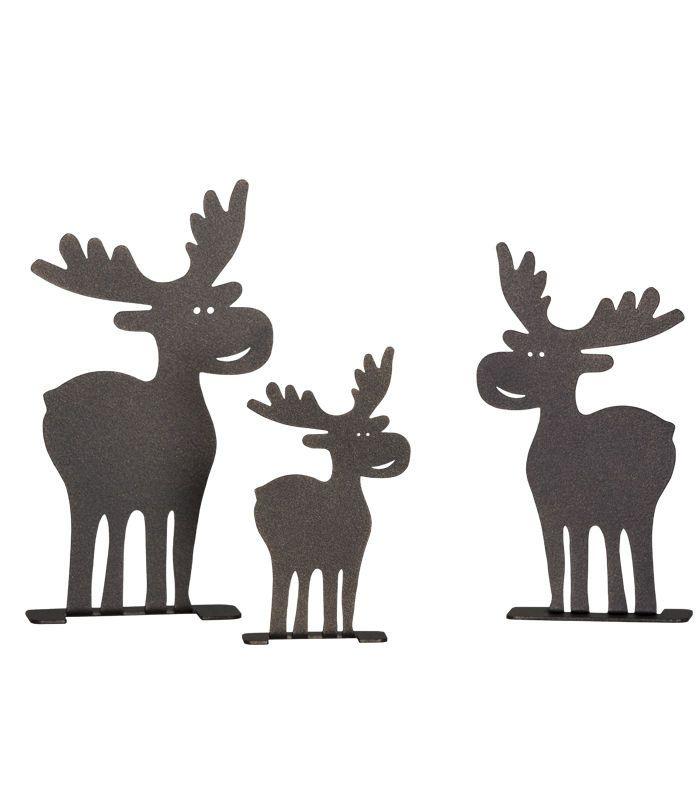 Fesselnd Details Zu Deko Set Elch, Braun, Tischdekoration Weihnachten Von HEIBI
