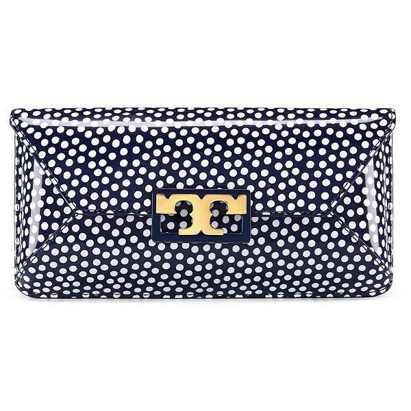 ddee1ef43788 Tory Burch Gigi Printed Patent Clutch ( 275) ❤ liked on Polyvore featuring  bags