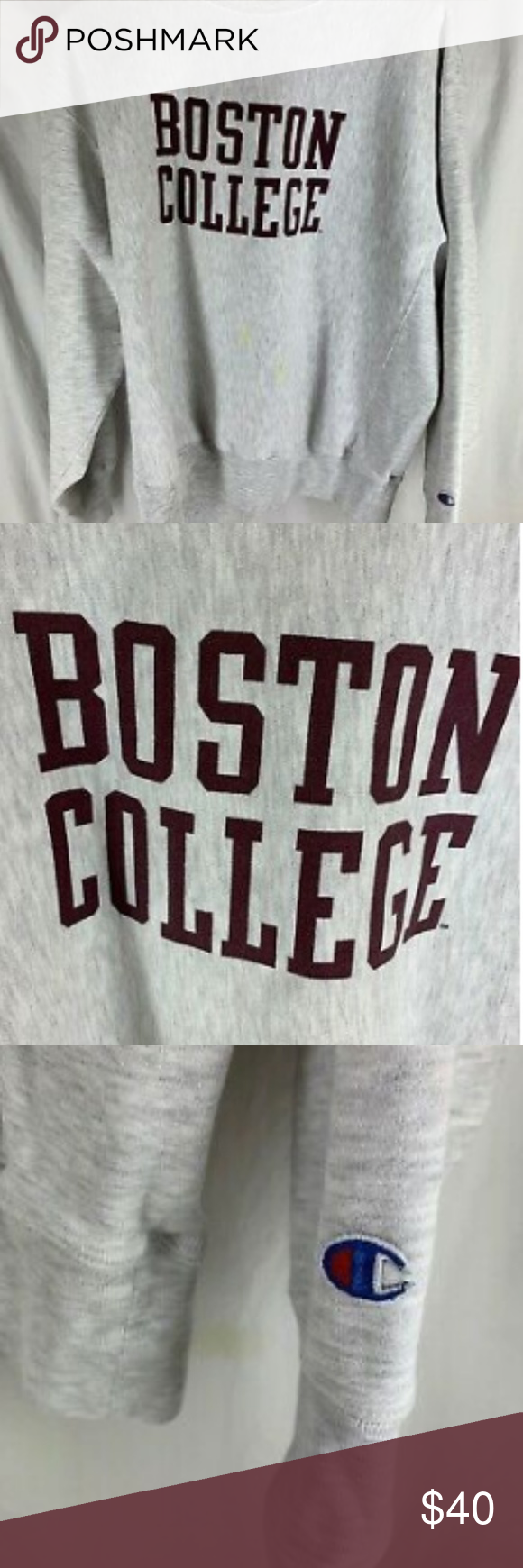 Boston College Reverse Weave Champion Sweatshirt Champion Sweatshirt Sweatshirts Christmas Sweater With Lights [ 1740 x 580 Pixel ]