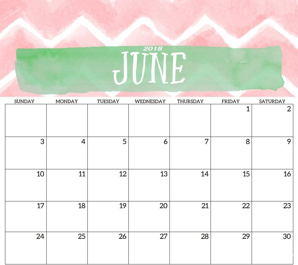 Best June 2018 Desk Calendar | Calendar 2018 | Pinterest ...