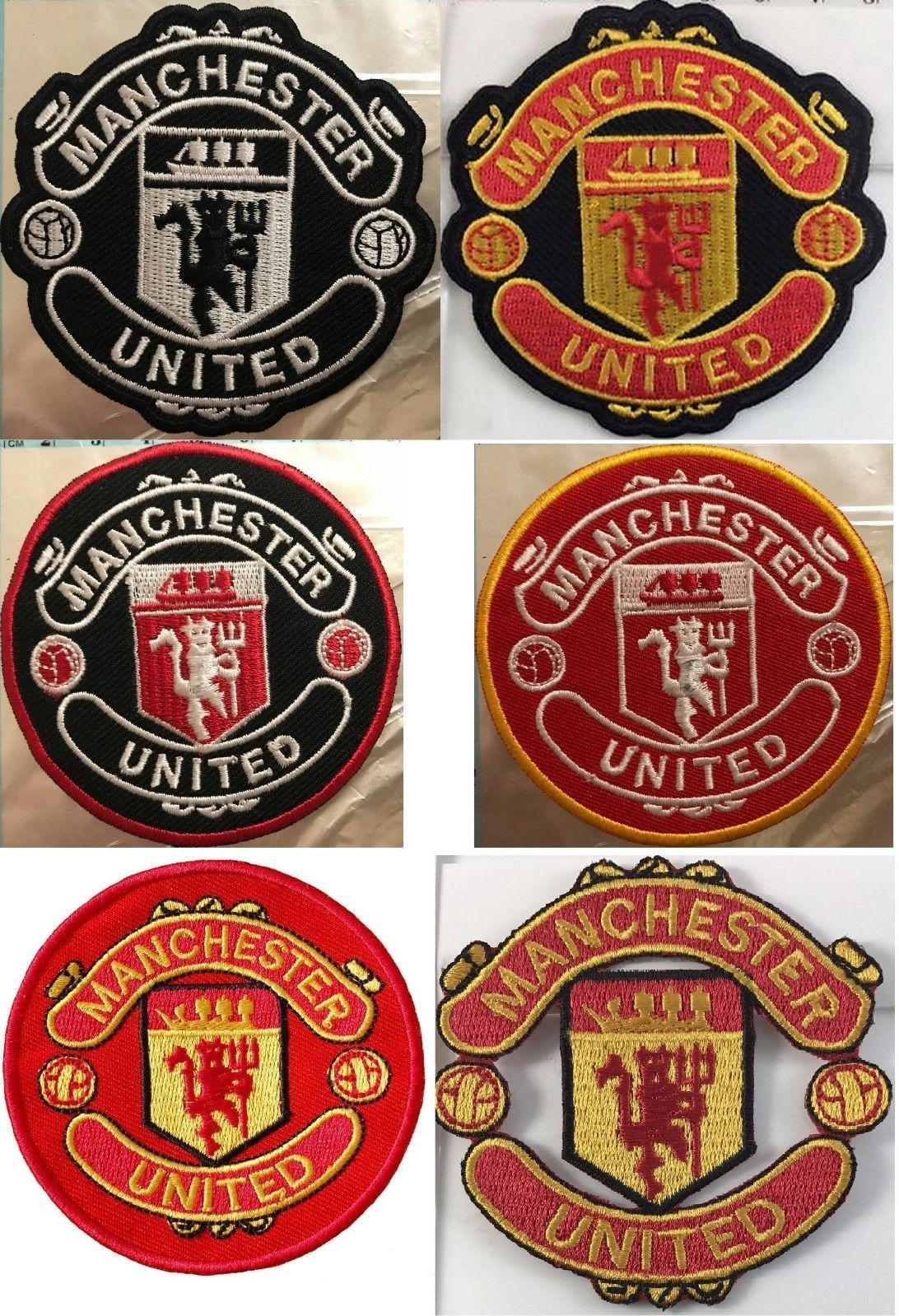 d1bbdbdd028 Manchester United Embroidered Football Clubs Iron Sew On Badges ...