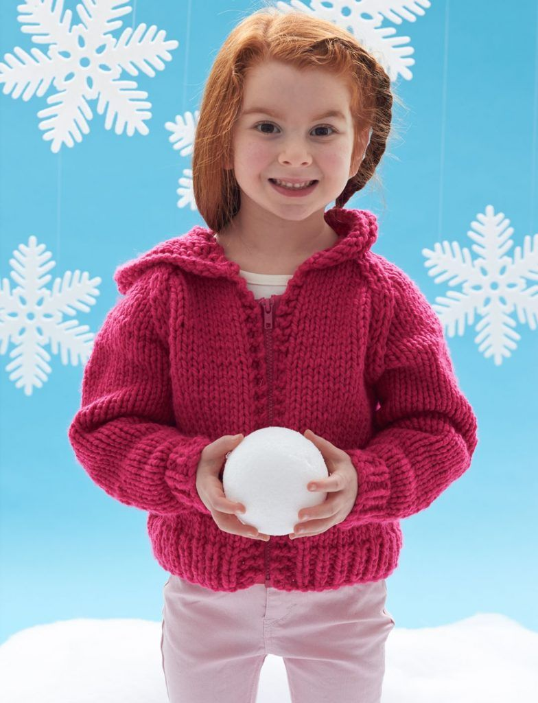 Free knitting pattern for childs hooded jacket | Kids ...