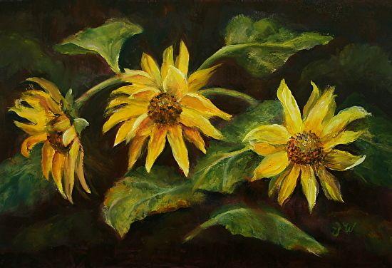 "Farewell to Summer by Julia Watson Oil ~ 6.5 x 10"""