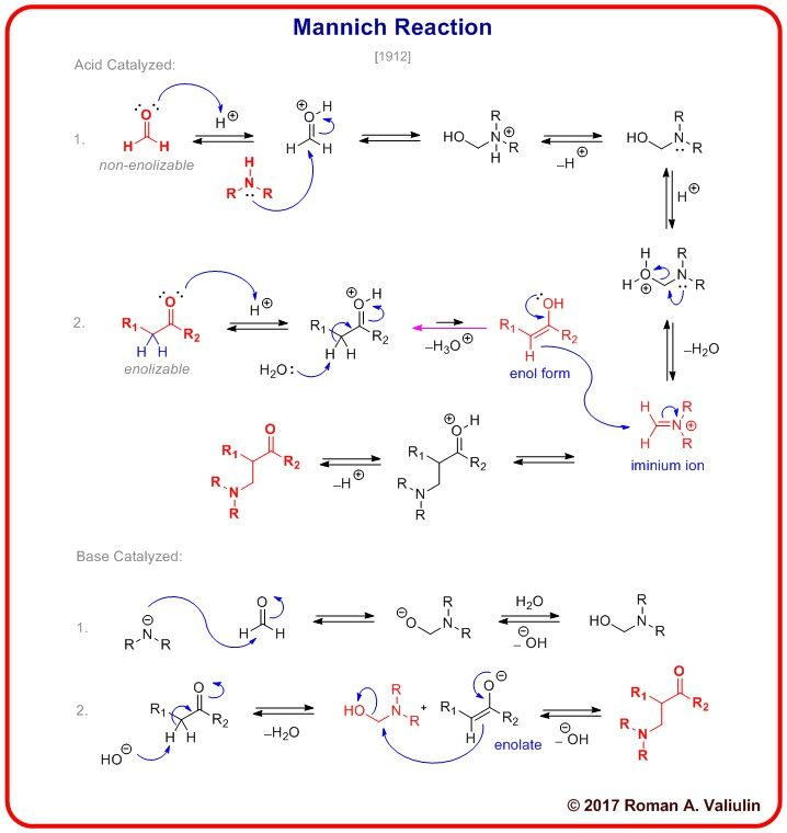 29] Mannich Reaction 1912 | Organic chemistry | Organic chemistry