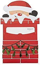 Photo of Amazon.com Gift Card in a Santa Chimney Reveal –  Gift Card is affixed inside a …