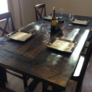 Farmhouse Style Pine Dining Table