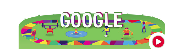 Google Flat Design for Special Olympics Google doodles