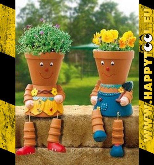 Semplicemente vasi ecco di cosa sono fatti questi due amici seduti in giardino garden ideas - Vasi terracotta da giardino ...