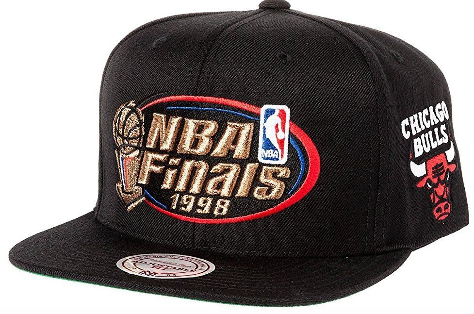 Chicago Bulls 1998 NBA Finals Snapback Hat By Mitchell ...
