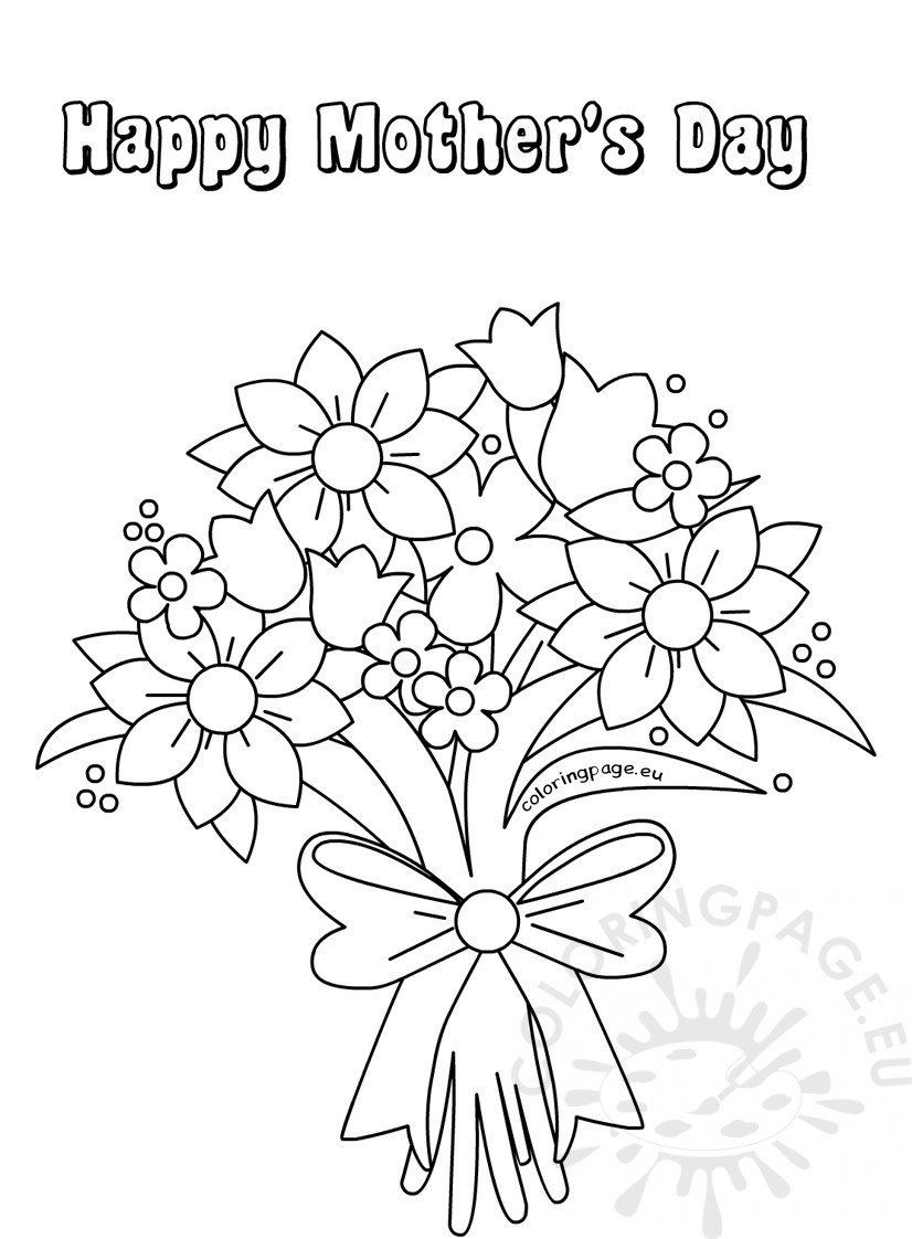 Bouquet Women Day Coloring Pages - Electrical Diagram ...