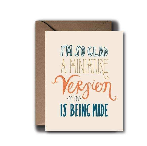 Miniature Version Baby Greeting Card | A2