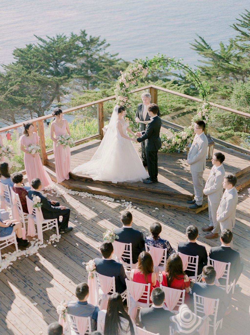 Wedding Ceremony At Hyatt Carmel Highlands Event Planning Styling Design Manna Sun Events Photographer Stella Yang Event Planning Event Photographer
