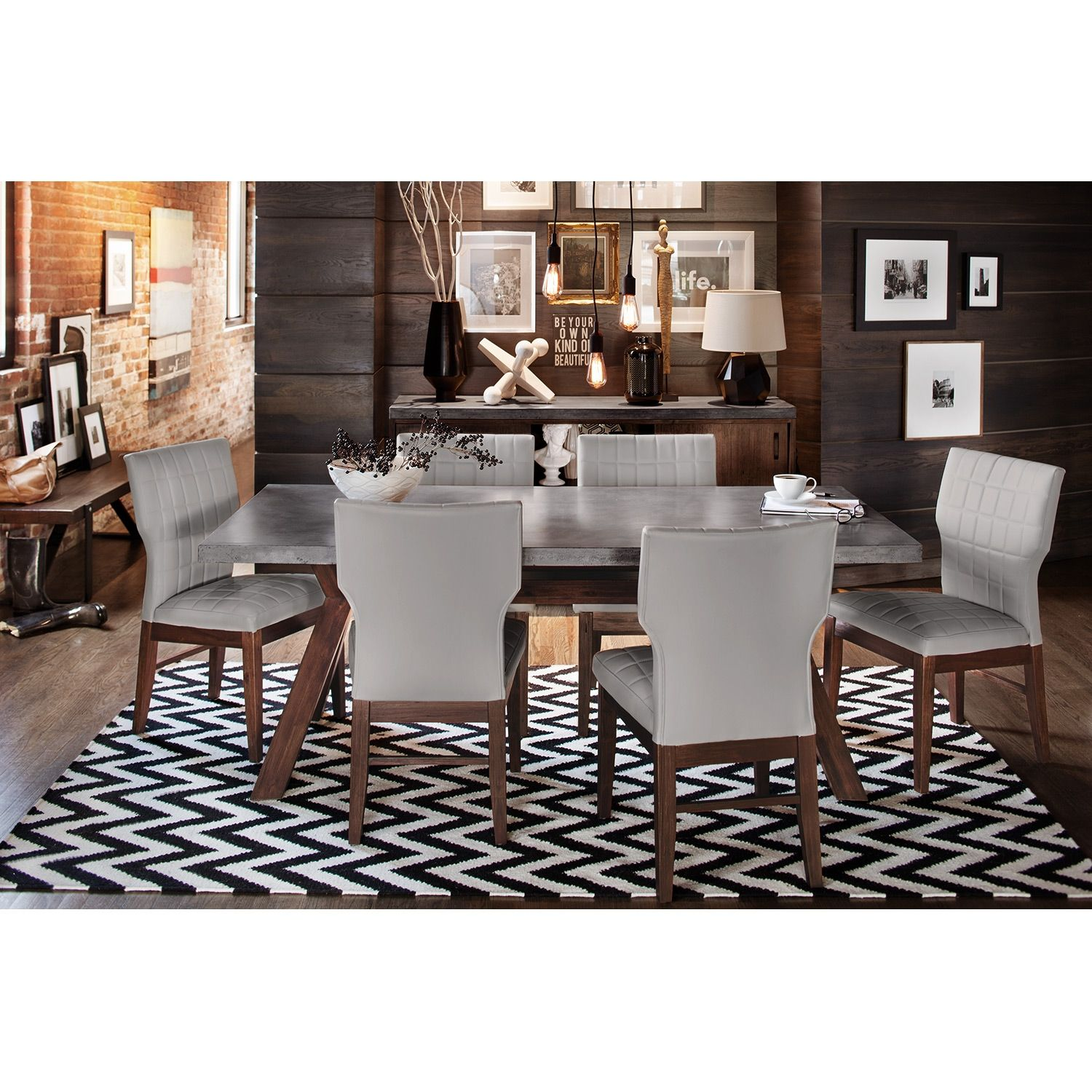 Mercer Ii 5 Pcdining Room  Value City Furniture  Industrial Alluring City Furniture Dining Room Design Inspiration