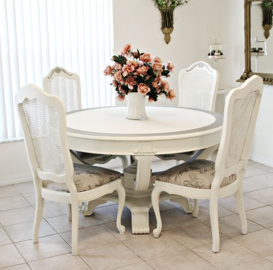 Sdining1 Httpladyinwhiteshabbychiccreationsinventorysold Adorable Shabby Dining Room Design Inspiration