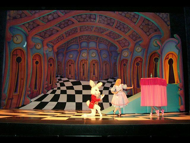Image result for alice in wonderland theatre sets | alice in ...