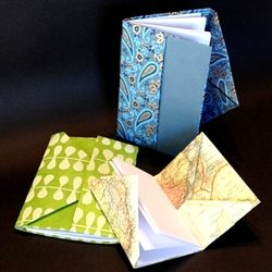 Pocketed Memo Book Class - Sunday September 13th at Two Hands Paperie  www.twohandspaperie.com