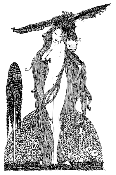 Peau d'Âne,Illustration in The fairy tales of Charles Perrault Perrault, Charles, 1628-1703; Clarke, Harry, 1889-1931, illustrator. London: Harrap (1922)-сборник сказок-