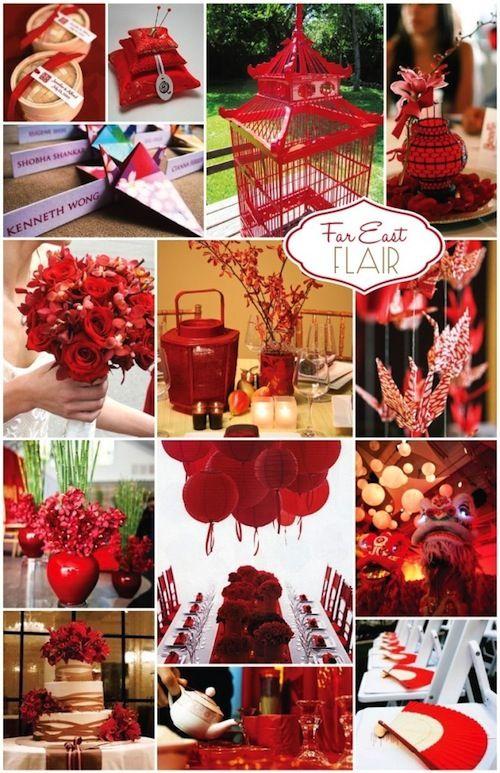 Red Asian Wedding Ideas Bearandchow Wedding Pinterest