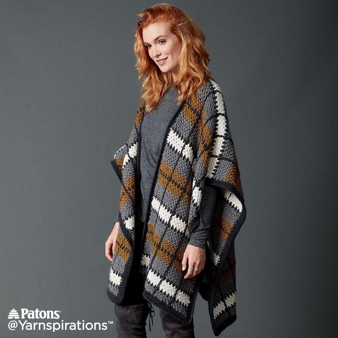 Crochet Ruana free pattern