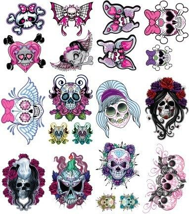 colored grim and girly punk tattoo design cool drawings pinterest punk tattoo tattoo. Black Bedroom Furniture Sets. Home Design Ideas