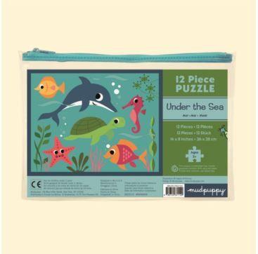 12 Piece Puzzle - Under the Sea - Bobangles #Mudpuppy #puzzle #underthesea #kids