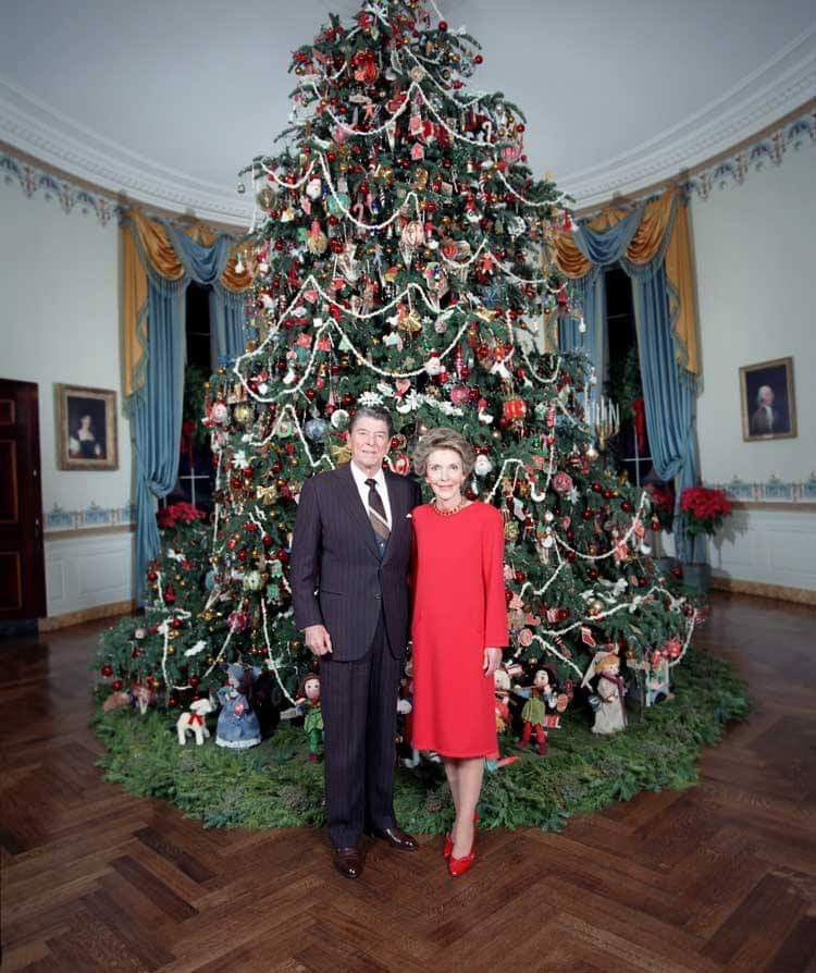 White House Ornaments Christmas Tree Trees Words