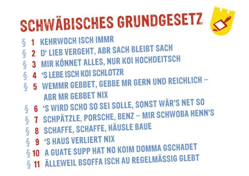 Postkarte: Schwäbisches Grundgesetz   :) lustig   Funny ...