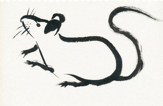 Simple Line Drawings Of Animals : Mouse original line drawing ink animal by collarcitystudios for