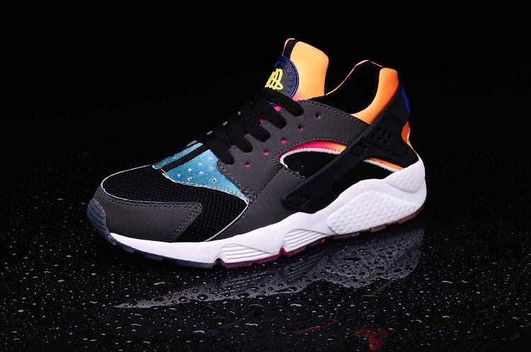 uk availability d9280 468a5 Nike Air Huarache Rainbow Neoprene Dark Grey Black